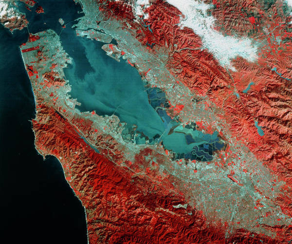 Wall Art - Photograph - Landsat Image Of San Franscisco by Mda Information Systems/science Photo Library