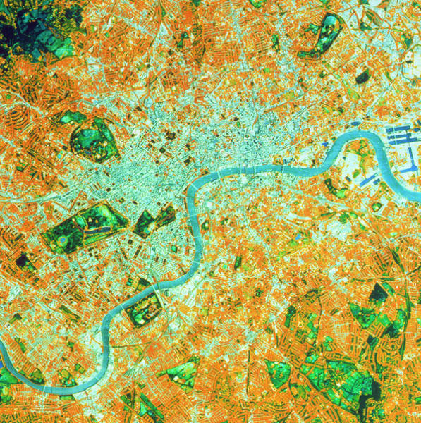 Wall Art - Photograph - Landsat Tm Image Of Central London by Nrsc Ltd/science Photo Library