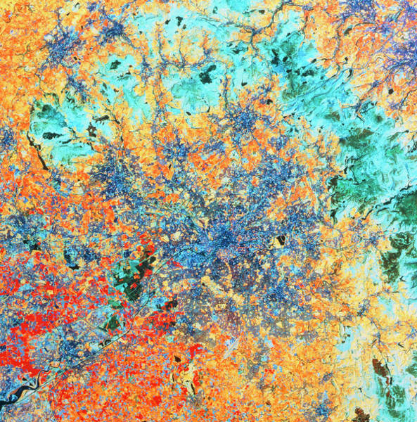 Greater Manchester Wall Art - Photograph - Landsat Tm Image Of Manchester by Nrsc Ltd/science Photo Library