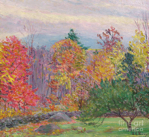 Turning Painting - Landscape At Hancock In New Hampshire by Lilla Cabot Perry