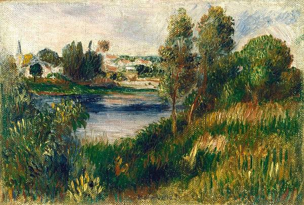 Vetheuil Wall Art - Painting - Landscape At Vetheuil by Pierre-Auguste Renoir