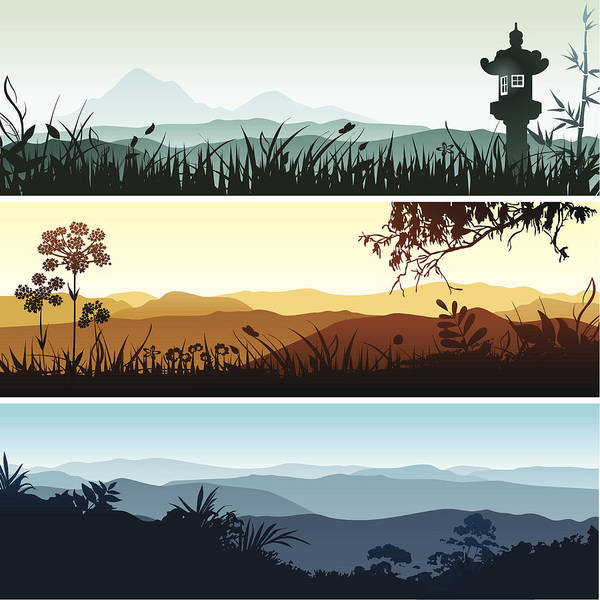 Landscape Banners Art Print by Bettafish