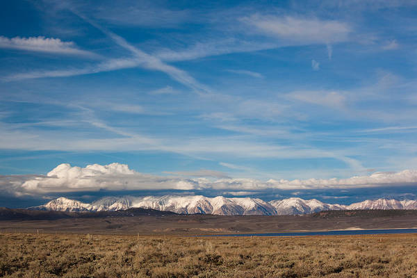 Sierra Nevada Mountain Range Photograph - Landscape By A Lake Crowley With White by Panoramic Images