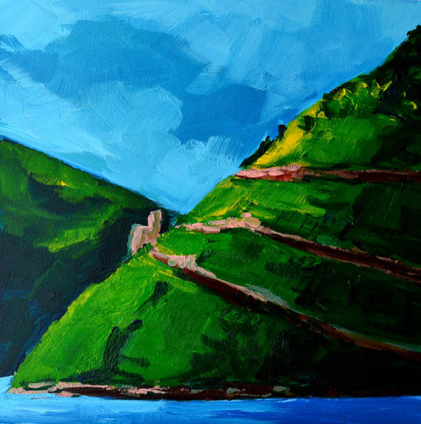 Painting - Landscape Castle Along The River Rhine by Patricia Awapara