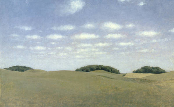 Moorland Wall Art - Painting - Landscape From Lejre by Vilhelm Hammershoi