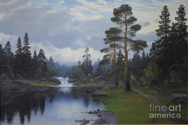 Painting - Landscape From Norway by Gonrad Selmyhr