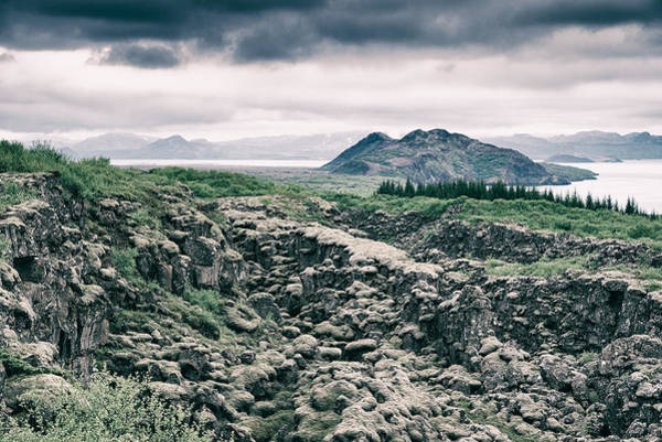 Photograph - Landscape In Iceland - Lava Field And Lake by Matthias Hauser