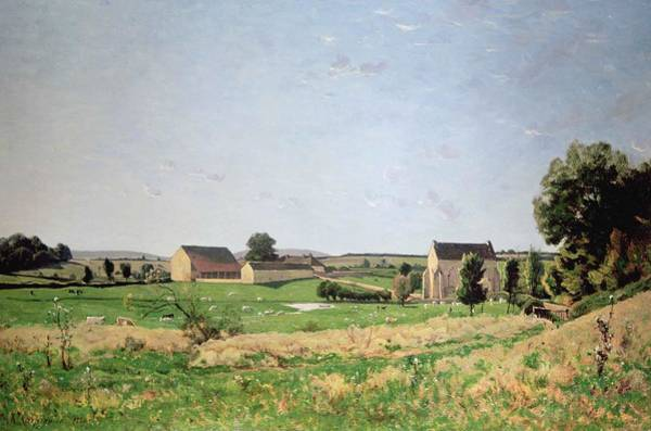 Chapel Painting - Landscape In Saulce by Henri-Joseph Harpignies