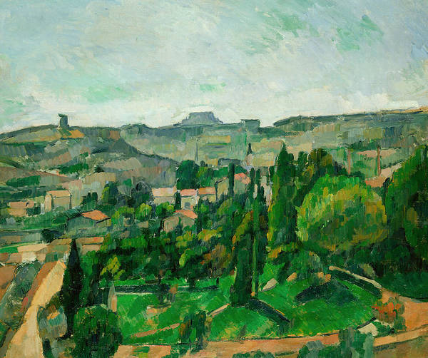 Neighborhood Painting - Landscape In The Ile-de-france by Paul Cezanne