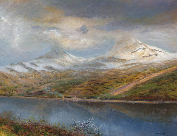 Mountain Range Painting - Landscape In The Tatra Mountains by Laszlo Mednyaszky