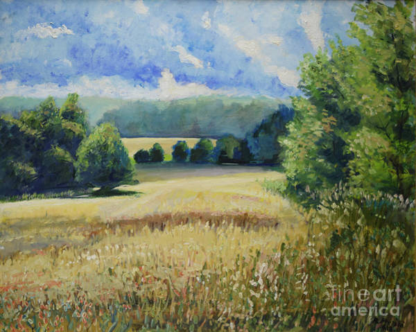 Painting - Landscape Near Russian Border by Raija Merila