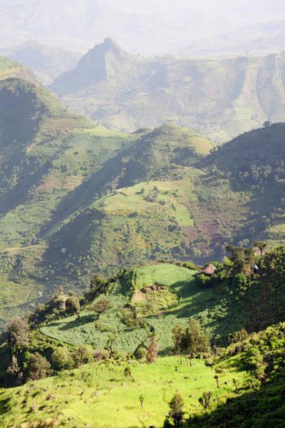Escarpment Photograph - Landscape North Of Gondar, Ethiopia by Martin Zwick