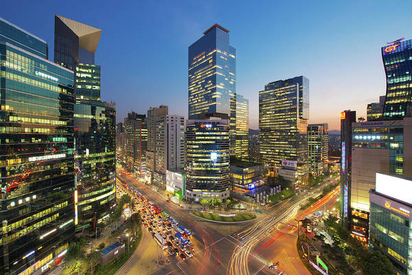 Multi Exposure Photograph - Landscape Of Modern City, Seoul, South by 1i / Multi-bits
