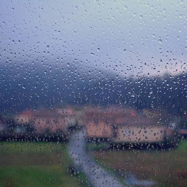 Abstract Landscape Wall Art - Photograph - #landscape #rain #igerslucca #tuscany by Mariana Mincu