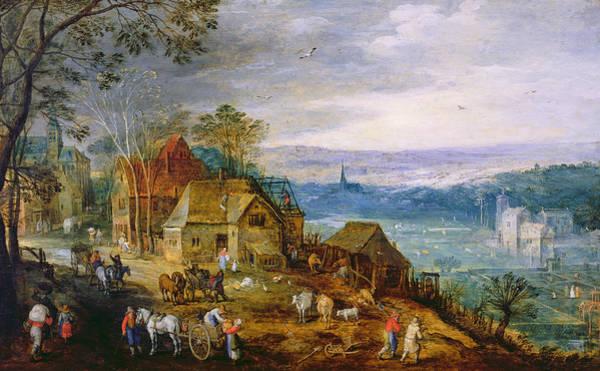 Paysage Wall Art - Photograph - Landscape Scene Oil On Canvas by Tobias Verhaecht