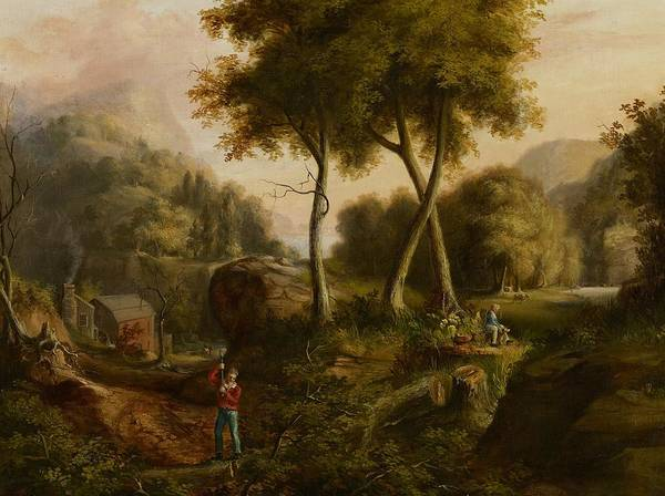 Hudson Valley Wall Art - Painting - Landscape by Thomas Cole