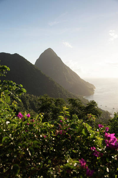 St. Lucia Photograph - Landscape View Of Piton In Saint Lucia by Ben Rosenzweig