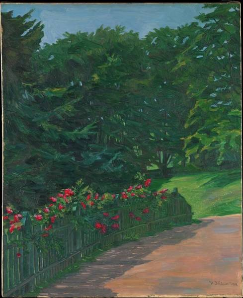 Tr Painting - Landscape by Wilhelm Tr�bner
