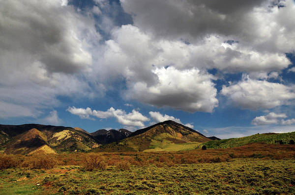 Sagebrush Photograph - Landscape With Clouds On La Sal by Michel Hersen