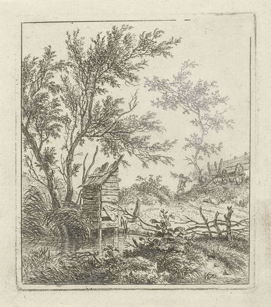 Lumberjack Drawing - Landscape With Lhomme Qui Achète Le Bois by Artokoloro