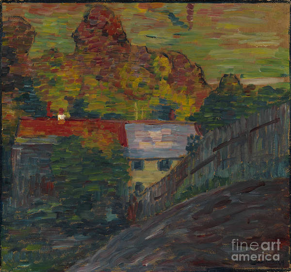 Painting - Landscape With Red Roof Wasserburg by Celestial Images