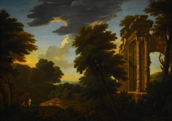 Painting - Landscape With Ruins by Celestial Images