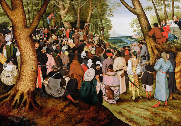 Delivering Painting - Landscape With Saint John The Baptist Preaching by Pieter the Younger Brueghel