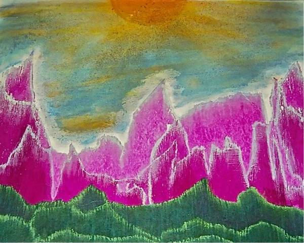 Painting - Landscapes 90 - Mountains by Mario MJ Perron