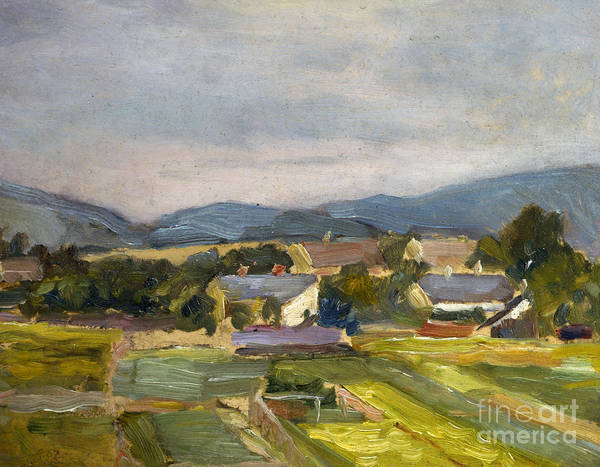 Country Style Painting - Landschaft In North Austria by Egon Schiele