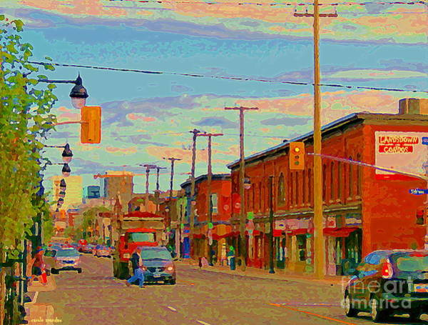 Painting - Landsdowne Condos 5th Avenue The Glebe Ottawa Street Scene Paintings Carole Spandau Canadian Art by Carole Spandau