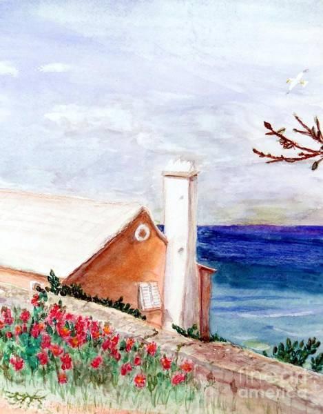 Brick House Mixed Media - Lane In Old Bermuda by Barbie Corbett-Newmin