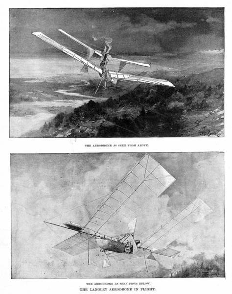 1834 Wall Art - Photograph - Langley's Steam-powered Model Plane by Universal History Archive/uig