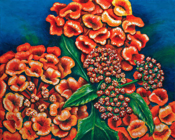 Painting - Lantana by Lori Sutherland