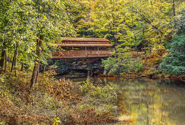 Photograph - Lanterman Falls Covered Bridge by Dale Kincaid