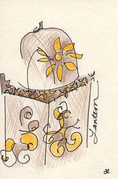 Drawing - Moroccan Lantern by Anna Elkins