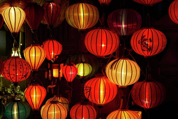 Hoi An Photograph - Lantern Shop At Night, Hoi An, Vietnam by David Wall