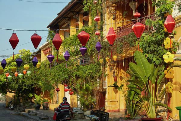 Hoi An Photograph - Lanterns And Restaurants, Hoi An by David Wall
