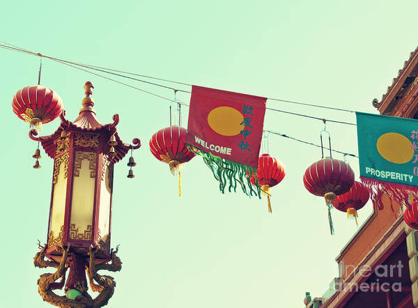 Wall Art - Photograph - Lanterns Over Chinatown by Cindy Garber Iverson