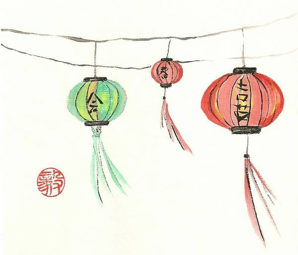 Wall Art - Painting - Lanterns by Terri Harris