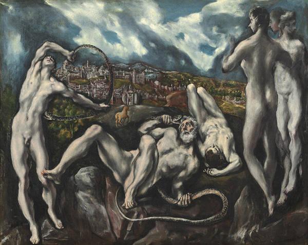 Strangling Painting - Laocoon by Domenico Theotocopuli El Greco
