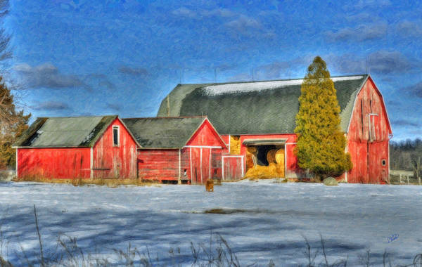 Painting - Lapeer County Barns by Dean Wittle