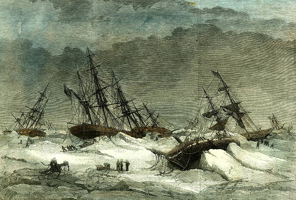 Suffering Drawing - Lapland Wrecks 1867 On The Coast Caused By The Ice by English School