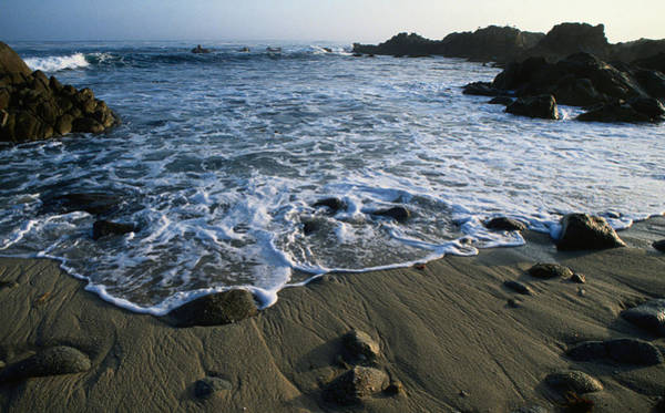 Monterey Bay Photograph - Lapping Of The White Capped Waves Of by John Elk