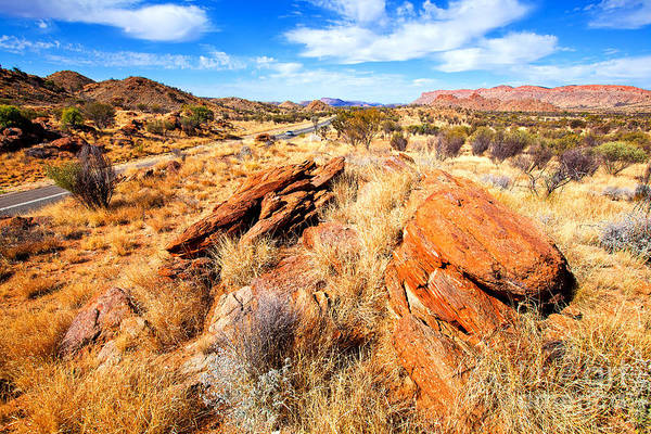 Central Australia Photograph - Larapinta Drive West Mcdonnell Ranges by Bill  Robinson