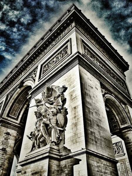 Photograph - L'arc De Triomphe - Paris - France  by Marianna Mills