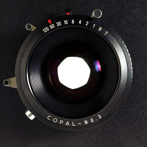 Shutter Speed Photograph - Large Format Adjustable Camera Lens by Victor De Schwanberg