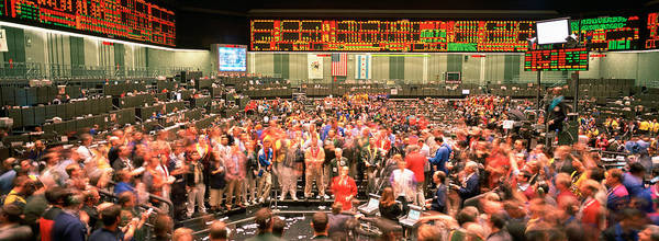 Gesturing Photograph - Large Group Of People On The Trading by Panoramic Images