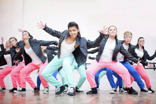 Hip Photograph - Large Group Of Teenagers Dancing In by Zero Creatives