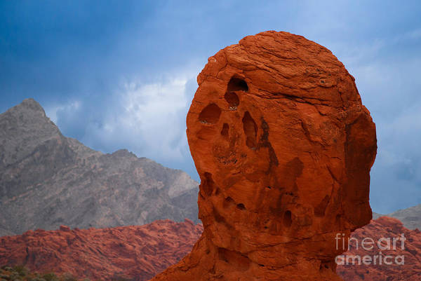 Photograph - Large Red Rock In Valley Of Fire by Les Palenik