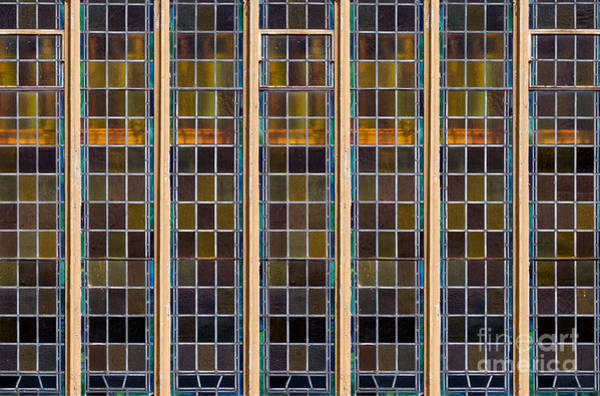 Photograph - Large Stained Glass Window by Les Palenik